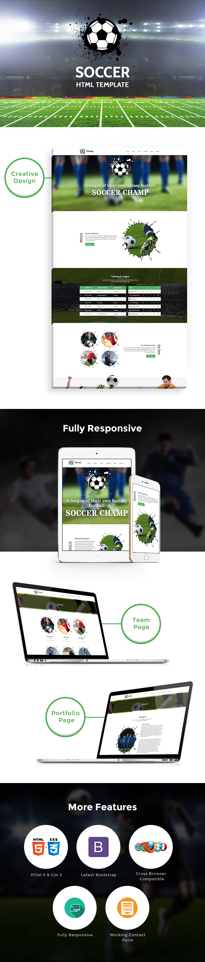 Football HTML Website Templates