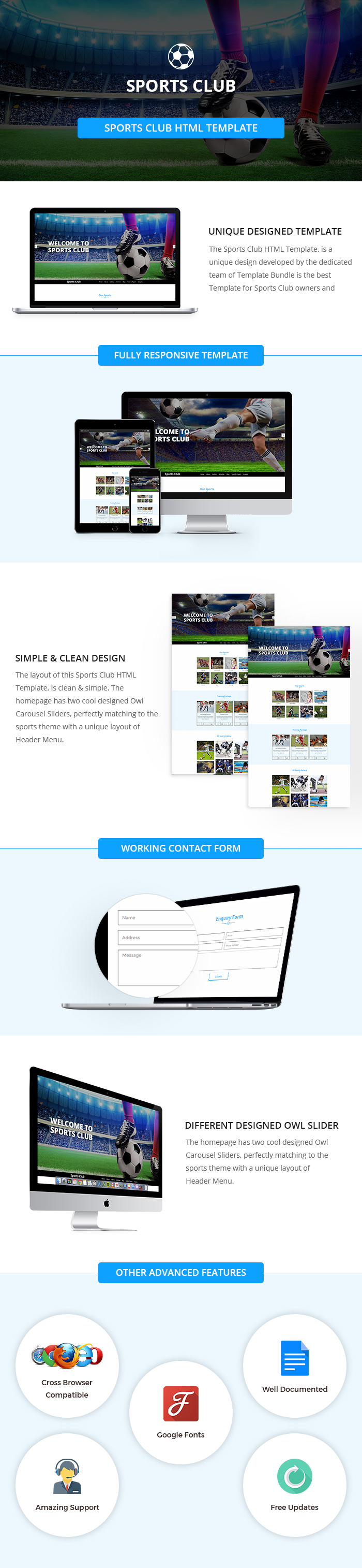 Sports Club HTML Website Templates