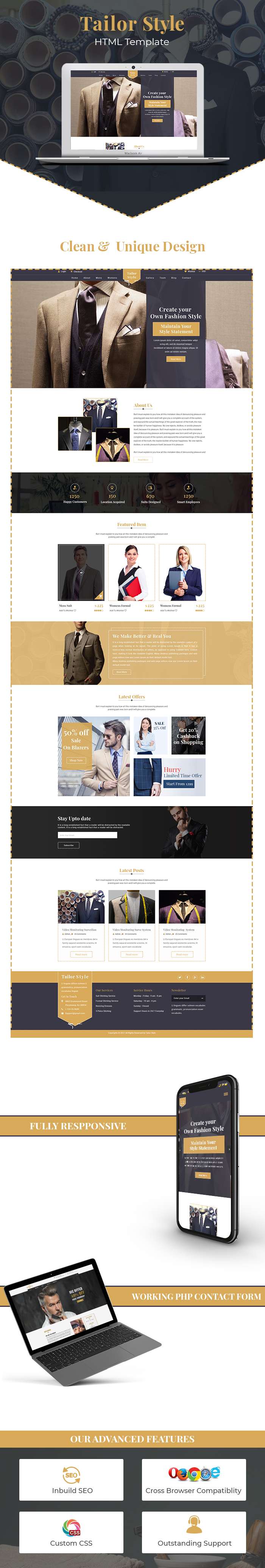 Tailor Shop HTML Website Templates
