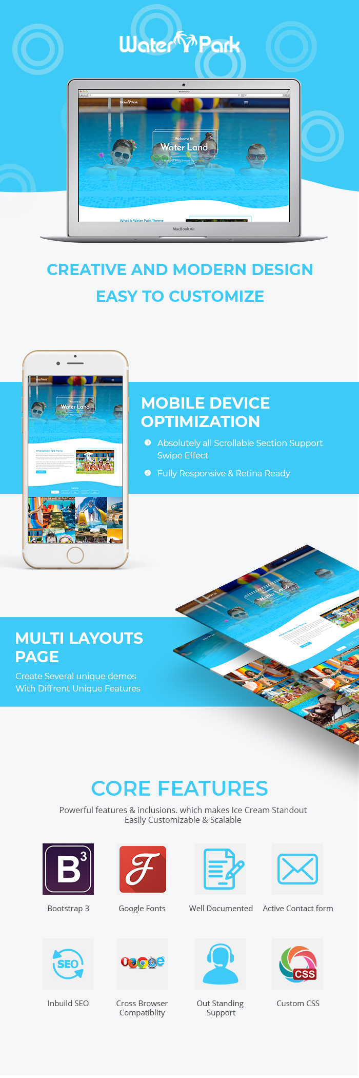Water Park HTML Website Templates