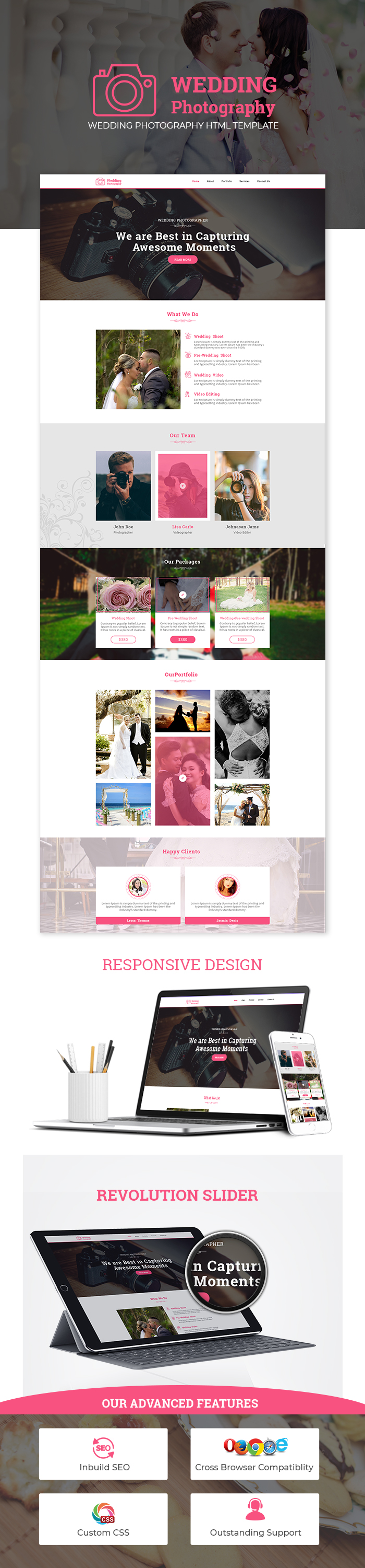Wedding Photography HTML Website Templates