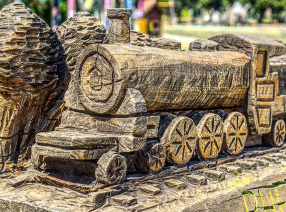 Railway Wood Train