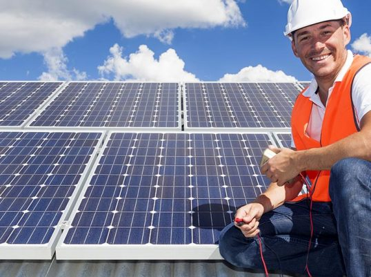 Solar panels that are properly maintained